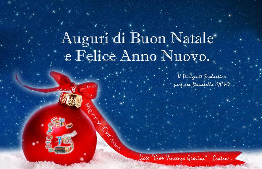 Auguri Di Buon Natale Felice Anno Nuovo.News Istituto G V Gravina
